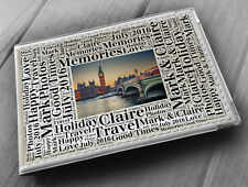 "Personalised photo album, memory book, 6x4"" photos, London England holiday gift"