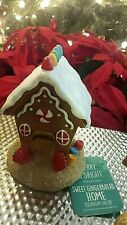 Merry & Bright Fish Tank Aquarium Christmas Decoration Gingerbread House New 5""