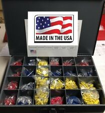 Master Wire Connectors Amp Terminals Assortment Kit All Types Usa Made 2400 Pcs