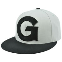 NCAA Georgia Bulldogs Mitchell Ness G010 XL Logo Gray 2 Tone Fitted Hat Cap