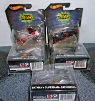 Hot Wheels Batman VS Superman Batmobile (2) Classic TV Series (3)1:50 Scale New