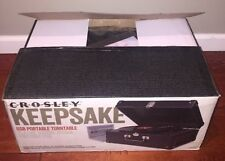 Crosley Keepsake Deluxe Portable USB Turntable-Black CR6250A-BK Turntable NEW