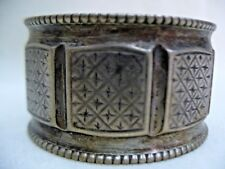 NAPKIN RING SILVER WITH HEBREW INITIAL LETTERS EUROPE EARLY 20th CENTURY