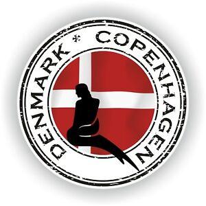 Seal Sticker of Denmark Copenhagen Stamp Bumper Roundel Laptop Car Truck