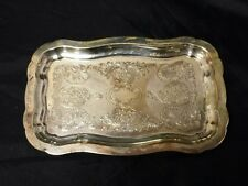 "Vintage IFS LTD Silverplate Serving Tray Silverplated Silver Plated 9"" Platter"