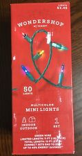 New Christmas Holiday Multi-Color Mini Lights Indoor or Outdoor 50 Count