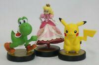 Amiibos-Princess Peach, Pikachu, Yoshi-Smash Bros- Nintendo Wii U FAST SHIP