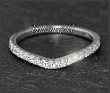Diamant Brillant Damen Ring 0,30 ct, 585 Weißgold, River, Eternity Band Ring