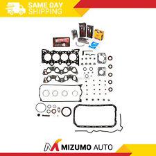 Full Gasket Set Bearings Rings Fit 92-95 Honda Civic Del Sol D16Z6