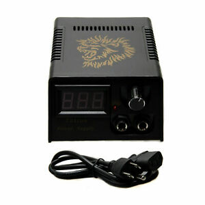 Tattoo Power Supply with power cord Digital LCD Display for Tattooing Machine