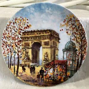 Collectors Plate L'Arc de Triomphe France Limited Edition Limoges Dali COA