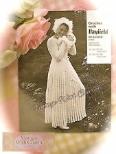 Vintage Crochet Pattern Wedding Bride Bridesmaid Dress 4 Sizes 22-38 Bust
