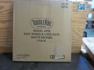"""Toddleroo by North States 47.85"""" Wide Easy Swing & Lock Baby Gate, Model: 4950"""