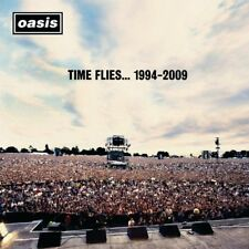 Oasis Time Flies 1994-2009 Album Cover Stretched Canvas Wall Art Poster Print