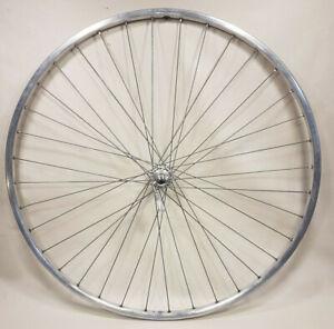 "Rigida 'Blue Label' 27"" x 1"" Alloy Rim w/ Shimano Hub 15g Spokes Wheel Used"