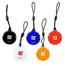 5 NFC Tag Anhänger Style   NTAG 216 mit 924 Byte   5 Farben I Markenprodukt