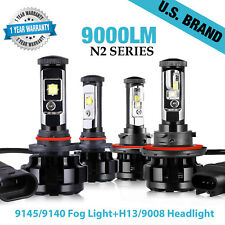 JDM ASTAR H13 9145 for Ford F150 04-2014 LED Headlight High Low Beam Fog Lights