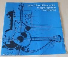 NOTICE D'EMPLOI MAGNETOPHONE à Cassettes monophonique PHILIPS Vintage 70' 80'