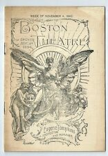 1895-Boston Theater Program-America's Largest and Most Magnificent Theater