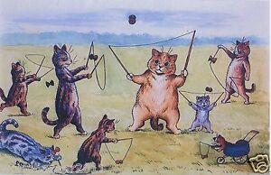LOUIS WAIN CAT PRINT CATS AT PLAY DIABLO KITTEN YOYO TOY JUGGLING GAME