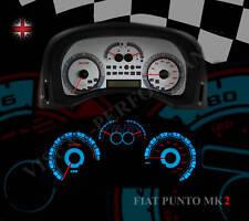 FIAT PUNTO MK2 HGT SPEEDO DASH PLASMA GLOW WHITE DIAL KIT