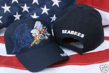 SEABEES HAT CAP US NAVY CONSTRUCTION SEA BEE CAN DO WOWNH PIN UP VETERAN GIFT