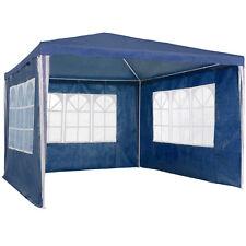 Gazebo da giardino tendone tenda per festa party con parti laterali 3x3 m blu nu