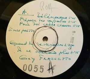 GUY FRASSETTO : TELEMAQUE ♦ UNIQUE LP TEST PRESSING RCA 1975 ♦