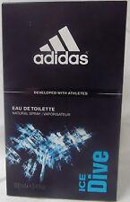 ADIDAS ICE DIVE 3.4 OZ / 100 ML EDT SPRAY NIB FOR MEN