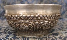 Antique Master Quality Handmade 92.5%  Silver Tibetan Tea Cup, Nepal