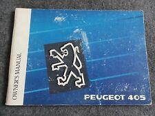 1991 Peugeot 405 Owners Manual