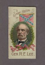 1889 N78 W.Duke Sons & Co. Histories of Generals Gen. R.E. Lee (Diff. Color)