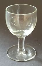 Clear glass vintage Victorian antique tiny tot glass