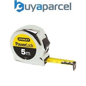 Stanley 0-33-552 Micro Powerlock Tape Measure 5m Metric Only STA033552