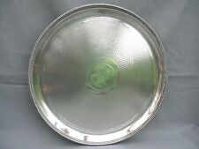 A nice quality William Hutton & Sons Epns engine turned 3 footed circular tray