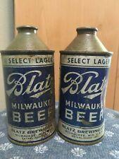 2 Vintage Blatz Cone Top Beer Can