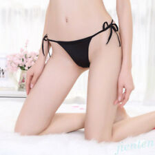 Women Sexy G String Panties Ladies Crotchless Lace Thongs String Brief Underwear