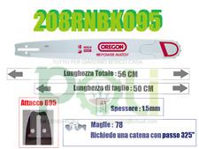 BARRA LAMA OREGON POWER MATCH 208RNBK095 50CM PASSO 325'' SPESS 1.5mm MAGLIE 76