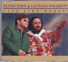 Elton john&Luciano Pavarotti-Live like horses Promo cd single