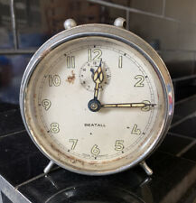 BEATALL Antique Vintage Alarm Mantle Clock Made In Germany