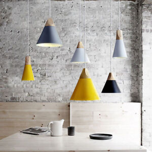 Wood Holder Lampshade Pendant Lamp Light Hang Lights Linghting Ceiling Fixtures