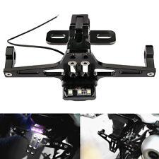 Universal Motorcycle Adjustable License Number Plate Holder LED Light  Bracket