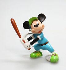 Porte-clé  PVC  figurine Mickey Mouse  baseball, Disney  7 cm