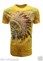 Konflic Mens T Shirt Native American Indian Skull Tattoo Biker MMA Windtalker