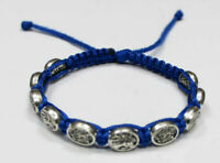 St Michael the Archangel the and Guardian Angel bracelet Blue Cord St Michael