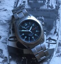 RARE SEIKO KINETIC GENTS WRISTWATCH MILITARY STYLE 5M43-0D10