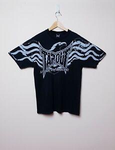 Tapout Mens Size L Large Black American Arrogant Eagle USA Cotton T Tee Shirt