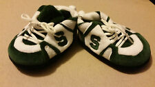 Michigan State Spartans Comfy Feet Baby Infant Slippers Booties 0-9 Months NWOT