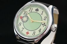 Full House playing cards Poker Unique Russian watch with Luminous hands dial