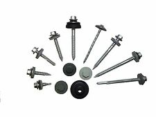 1000 x 65mm TEK SELF DRILLING ROOFING SCREWS TO WOOD, HEX HEAD WITH BAZ WASHER
